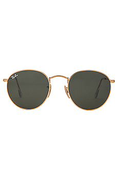 Ray-Ban Round Metal in Green Classic