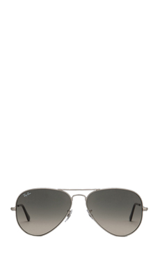 Ray-Ban Large Metal Aviator in Silver/Crystal Gray Gradient