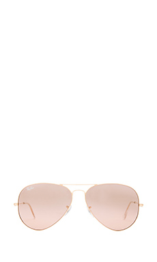 Ray-Ban Large Aviator in Gold/Rose