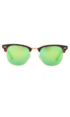 Ray-Ban Clubmaster Flash Lenses in Tortoise & Green Flash