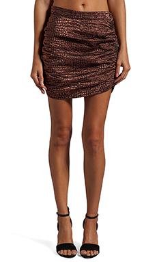 ROSEanna Mason Flash Croc Metallic Skirt in Rose