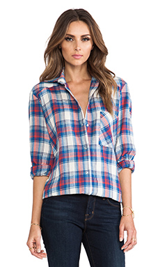 ROSEanna Mizu Young Button Up in Check