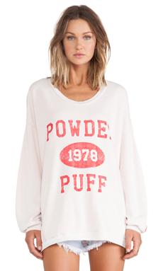 Rebel Yell Powder Puff Strokes Warm Up Sweatshirt in Blush