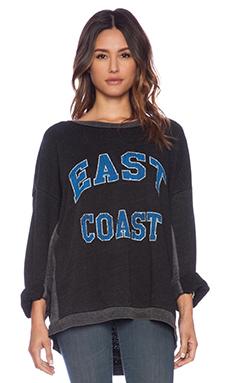 Rebel Yell East Coast Strokes Warm Up Sweatshirt in Black
