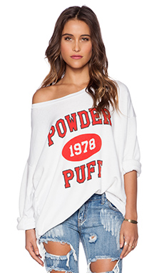 Rebel Yell Powder Puff Strokes Sweatshirt in White