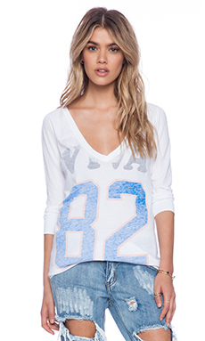 Rebel Yell Viva 82 Ridgerunner Football V Tee in White