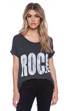 Rebel Yell Rock & Roll X-Boyfriend Tee in Black