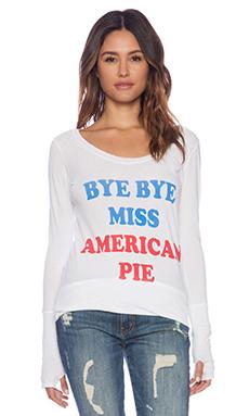 Rebel Yell Bye Bye Miss American Pie Skinny Tee in White