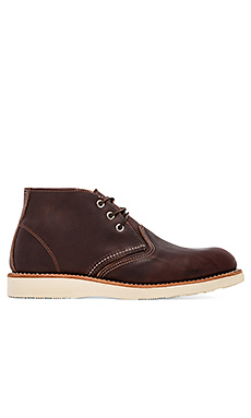 Red Wing Shoes Work Chukka in Briar Oil Slick