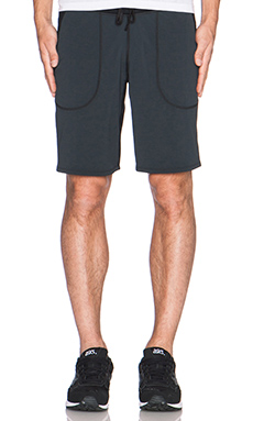 Reigning Champ Sweatshort in Black/Black