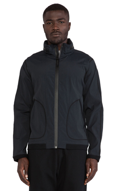 Reigning Champ Stow Away Hood Jacket in Black