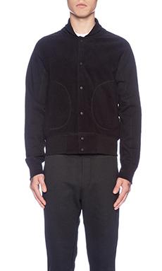 Reigning Champ Varsity Jacket in Black/Black