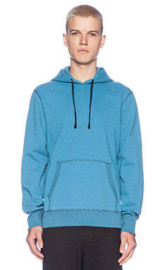Reigning Champ Pullover Hoodie with Side Zip in Heather Pacific