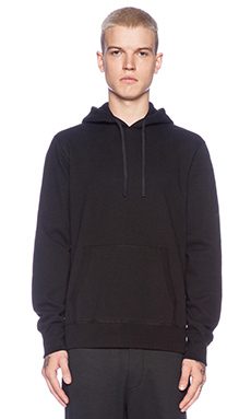 Reigning Champ Pullover Hoodie with Side Zip in Black