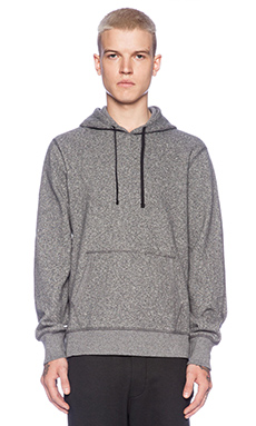 Reigning Champ Pullover Hoodie with Side Zip in Charcoal