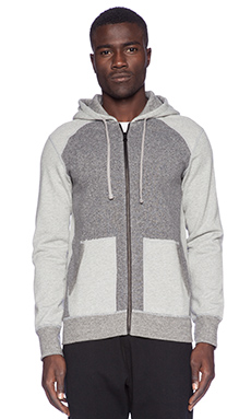 Reigning Champ Full Zip Hoodie in Grey
