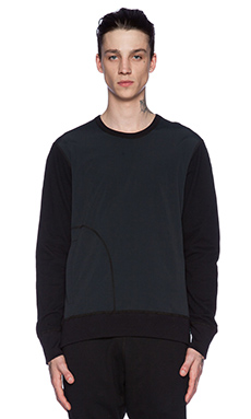 Reigning Champ Crewneck in Black & Black