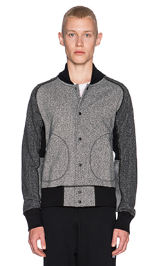 Reigning Champ Varsity Jacket in Grey