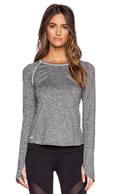 Rese Stella Long Sleeve Top in Charcoal Mossed Heather