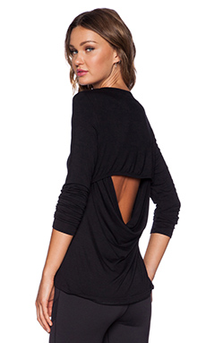 Rese Megan Long Sleeve Tee in Black