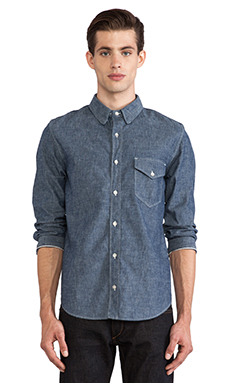 rag & bone Selvage Button Down in Indigo Chambray