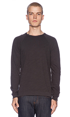 rag & bone L/S Raglan in Black
