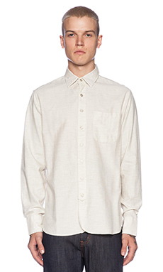 rag & bone 3/4 Placket Button Down in Ivory