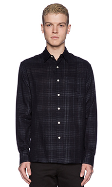rag & bone Beach Shirt in Navy