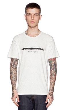 rag & bone Logo Tee in White
