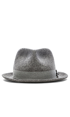 rag & bone Hackman Fedora in Heather Grey
