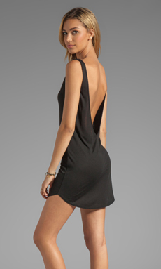Riller & Fount Gwen Sleeveless V Tunic in Black