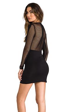 Riller & Fount Lenny Mesh Back Dress in Black