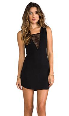 Riller & Fount Vince Mesh Dress in Black