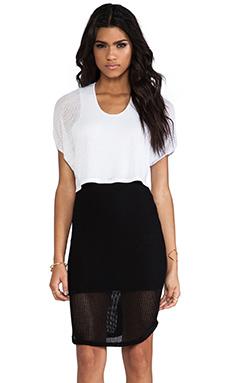 Riller & Fount Felipe Dress in White & Black
