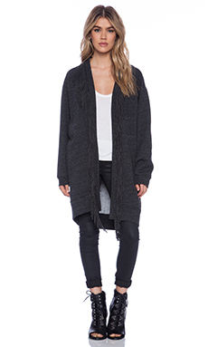Riller & Fount Drago Cardigan in Charcoal Fleece