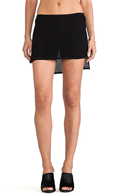 Riller & Fount Ruby Mesh Skirt with Shorts in Black