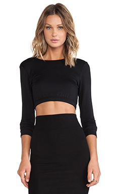 Riller & Fount Charlotte Crop Top in Black