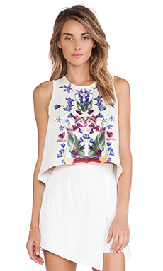 Ringuet Cut Away Tank in Print