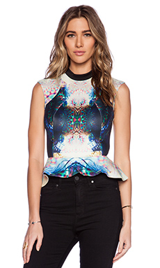 Ringuet Infinite Peplum Top in Multi