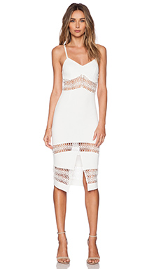 RISE OF DAWN Martini Midi Dress in White
