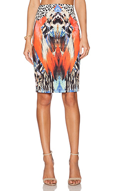 RISE OF DAWN Animal Kingdom Midi Skirt in Black