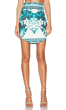 RISE OF DAWN When You Were Mine Skirt in Jade Aztec