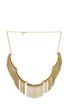 Rebecca Minkoff Fringe Bib Necklace