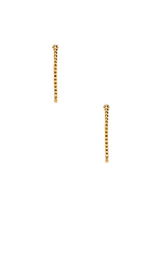 Rebecca Minkoff Studded Hoop Earring in Gold