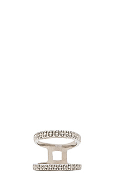 Rebecca Minkoff Pave Split Ring in Silver