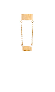 Rebecca Minkoff Wide Band Chain Ring in Gold