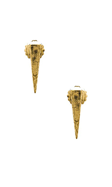 Rebecca Minkoff Spike Stud Earrings in Brass Ox