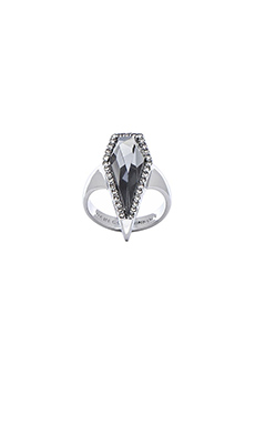 Rebecca Minkoff Clandestine Blade Ring in Smokey Crystal