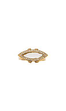 Rebecca Minkoff Phoenix Stone Ring in Gold & Crystal