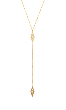 Rebecca Minkoff Marquis Necklace in Gold